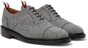 Thom Browne Cap-Toe Herringbone Shetland Wool Oxford Shoes