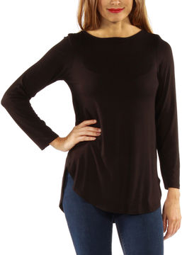 24/7 Comfort Apparel On Trend Tunic Top