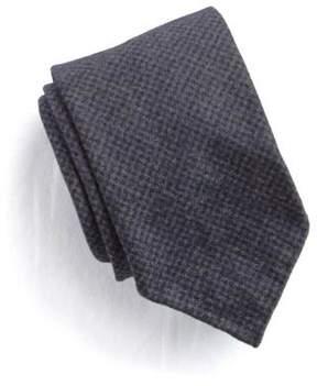 Drakes Drake's Mircro-houndstooth Wool Tie in Black
