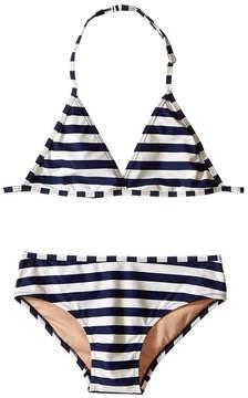Toobydoo Navy/White String Bikini (Infant/Toddler/Little Kids/Big Kids)