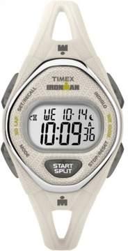 Timex Women's Ironman Sleek 50 White Watch, Silicone Strap