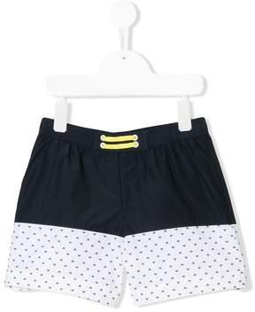 Emporio Armani Kids monogram print swim shorts