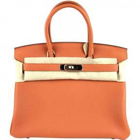 Hermes Birkin leather tote - ORANGE - STYLE