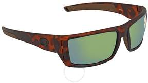 Costa del Mar Rafael Green Mirror 580P Rectangular Sunglasses RFL 66 OGMP