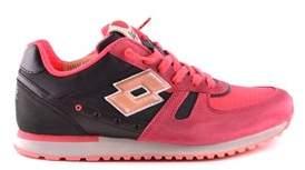 Lotto Leggenda Women's Red Suede Sneakers.