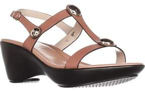 Callisto Toggle Low-heel Comfort Sandals, Tan.