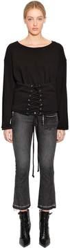 RtA Colette Corset Cotton Sweatshirt