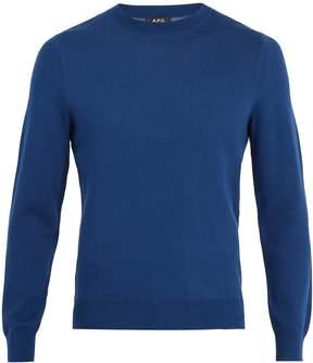 A.P.C. Cia logo-intarsia cotton-blend sweater