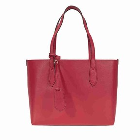 Burberry Small Rreversible Leather Tote- Poppy Red - ONE COLOR - STYLE