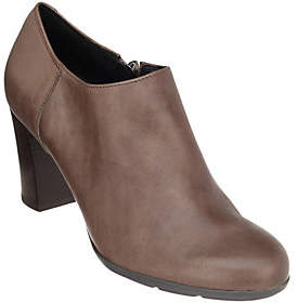 Geox Leather Block Heel Shooties - Annya
