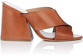 Maison Margiela Women's Angled-Heel Leather Mules