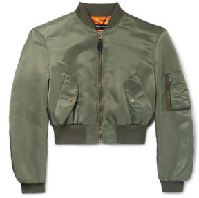 Balenciaga Cropped Shell Bomber Jacket