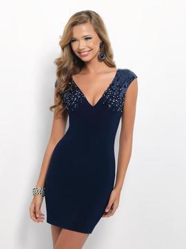 Blush Lingerie C136 Beaded V-neck Jersey Dress