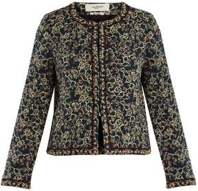 Etoile Isabel Marant Hustin floral-print quilted jacket