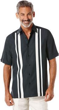 Cubavera Short Sleeve Tri-Color Panel Shirt