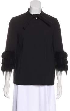Trussardi Fur-Trimmed Evening Jacket