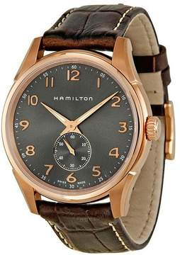 Hamilton Jazzmaster Grey Dial Brown Leather Men's Watch