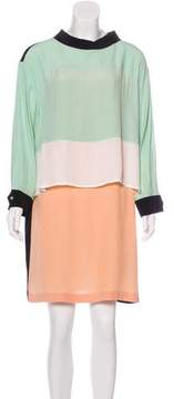 Antonio Marras Colorblock Mini Dress