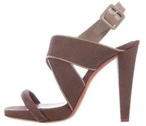Philosophy di Alberta Ferretti Embossed Multistrap Sandals