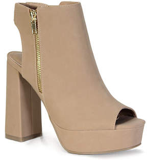 Bamboo Natural Peep-Toe Spirit Bootie - Women
