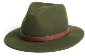 Brixton Men's 'Messer' Wool Fedora - Green