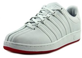 K-Swiss Classic Vn Men Round Toe Leather Red Sneakers.