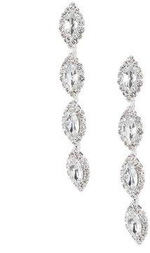 Cezanne Navette Rhinestone Linear Drop Earrings