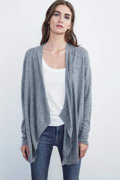 Velvet by Graham & Spencer ROZALIA POINTELLE DRAPE CARDIGAN