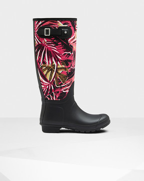 Hunter Women's Original Jungle Print Canvas Rain Boots