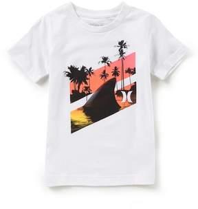 Hurley Little Boys 2T-7 Shark Slash Short Sleeve Graphic Tee