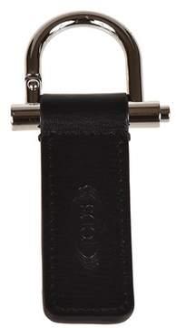 Tod's Men's Black Leather Key Chain.