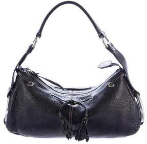 Hogan Leather Drawstring Hobo