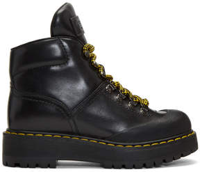 Prada Black Lug Sole Hiking Boots