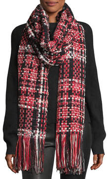 Rag & Bone Linton Tweed Fringed Wool-Blend Scarf