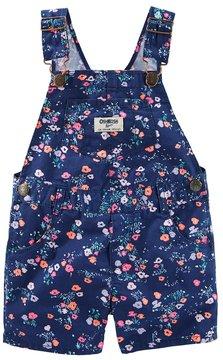 Osh Kosh Baby Girl Floral Twill Shortalls
