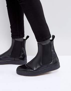 Zign Shoes Leather Chelsea Boots With Chunky Sole