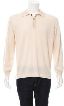 Salvatore Ferragamo Cashmere Polo Sweater