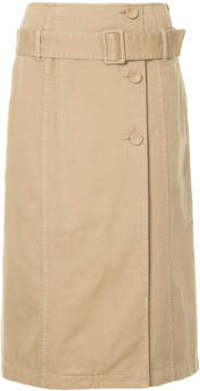 CITYSHOP belted a-line skirt
