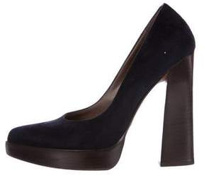 Marni Suede Pointed-Toe Pumps
