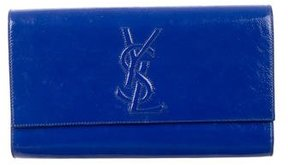Saint Laurent Large Belle de Jour Clutch - BLUE - STYLE