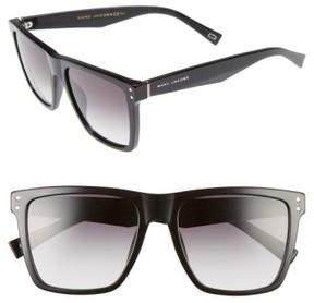 Marc Jacobs Women's 54Mm Flat Top Gradient Square Frame Sunglasses - Black