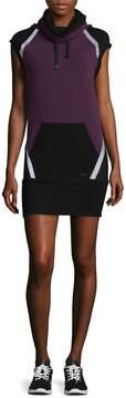 Blanc Noir Women's Lock Funnel Cotton-Blend Dress