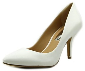 INC International Concepts Zitah Women Pointed Toe Leather White Heels.
