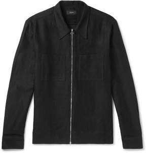 Joseph Fenham Brushed Linen And Cotton-Blend Overshirt