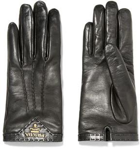 Prada - Leather Gloves - Black