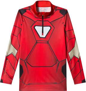 Spyder Red Iron Man Marvel T-Neck 1/4 Zip Mid Layer