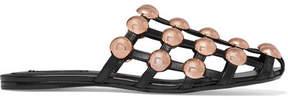 Alexander Wang Amelia Studded Leather Slippers - Black
