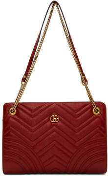 Gucci Red GG Marmont 2.0 Bag