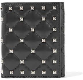 Valentino Garavani The Rockstud Spike Quilted Leather Wallet - Black