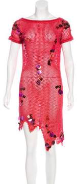 Christian Lacroix Metallic Knit Dress w/ Tags